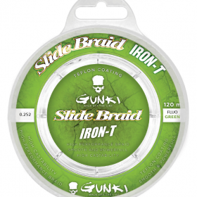 Gunki Slide Braid Iron-T 120 Fluo Green 0,252
