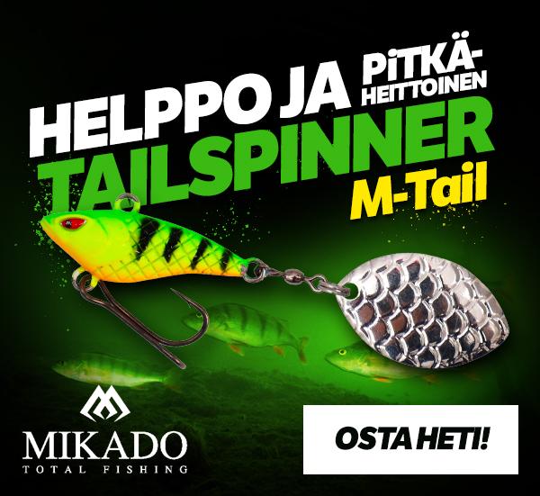 Osta helppo ja pitkäheittoinen Mikado Tailspinner M-tail